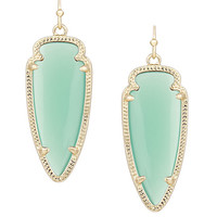 Kendra Scott Sky Earrings In Chalcedony Mint