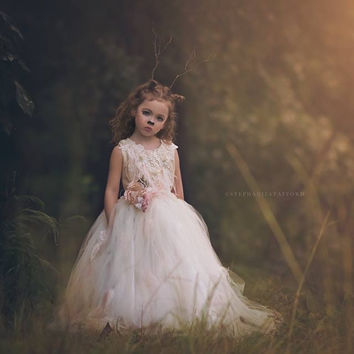 Tutu couture-Photoprop-flowergirl-Stephanie