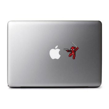 8-Bit Deadpool (Gun) Decal for MacBook, iPad Mini, iPhone 5S, Samsung Galaxy S3 S4, Nexus, HTC One, Nokia Lumia, Blackberry