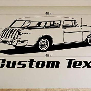 Chevy Nomad Car Wall Decals Stickers Graphics Man Cave Boys Room Décor