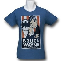 Batman Bruce for President 30 Single T-Shirt