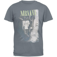 Nirvana - Brick Wall Alley Photo Adult T-Shirt