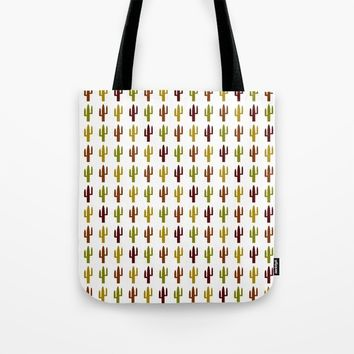 Cactus 2 design, Vector Tote Bag by Claude Gariepy