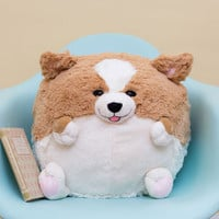 Kawaii Plush One Pillow in Corgi by ModCloth