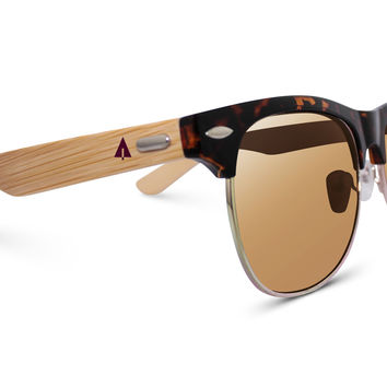 Wooden Sunglasses // Clubmaster 72