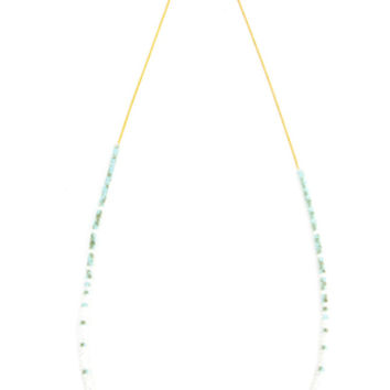 Chan Luu Mint Crystal Mix Layering Necklace