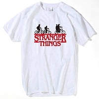 stranger things eleven rock waffle hawkins t shirt men and women new white casual plus size tshirt homme strange thing T-Shirts