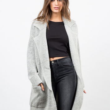 Oversized Thick Knit Jacket - Large