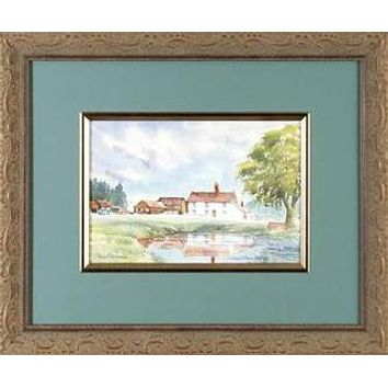 Creed's Farm, Epping - Original Watercolor Painting on Paper by Martin Goode (1932-2002)