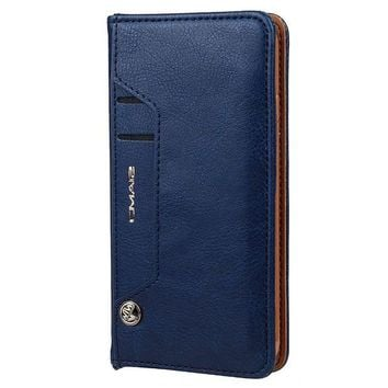CREYV2S Phone Case with Card Slot Leather Wallet Case for iPhone 6/7 Samsung Galaxy S6/7/8
