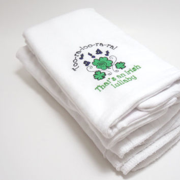 Irish Lullaby Burp Cloths - Set of 3 - Trinity Crossing