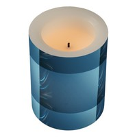 Swirl Blues Flameless Candle