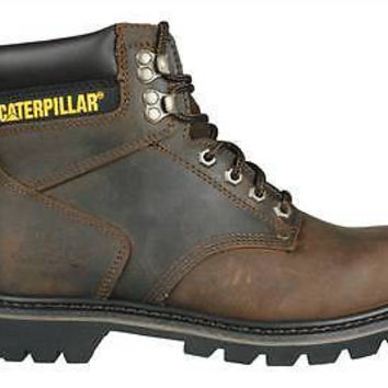"Caterpillar Mens 6 "" Boots 2nd Shift P72593 Dark Brown Leather Sz 7 M"