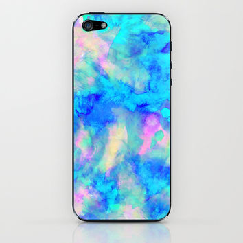Electrify Ice Blue iPhone & iPod Skin by Amy Sia