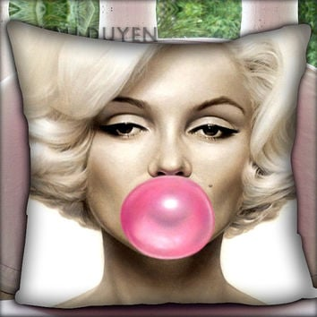 Marilyn Monroe Bubblegum - Pillow Cover Pillow Case and Decorated Pillow.