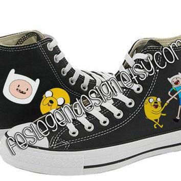 VONR3I Finn and Jake Painted Shoes / Adventure Time / Custom Converse