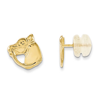 14k Madi K Horse Head Earrings GK428