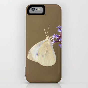 Flower with Butterfly iPhone & iPod Case by Cinema4design