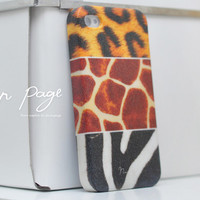apple iphone case : mixing of leopard zebra giraffe furs