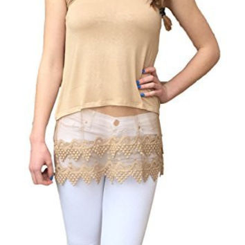 Winter Lennon Top Extender Camisole with Lace Hem