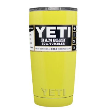 Promotional YETI 20 oz Yellow Gloss Custom Tumbler