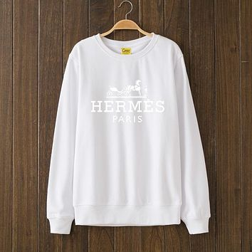 Hermes Fashion Casual Top Sweater Pullover