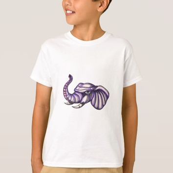 Elephant Head Trunk Tattoo T-Shirt