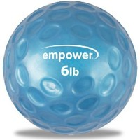 Empower Fingertip Grip Medicine Ball with DVD (6-Pound )