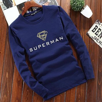 Long sleeve clothing T-Shirts man round neck t shirt men boy