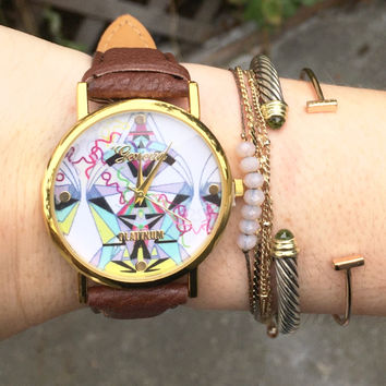 Mia Vegan Leather Watch