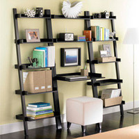 The Container Store > Linea Leaning Desk & Bookcases