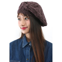 Chunky Cable Knit Beret