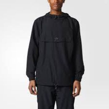 KUYOU Adidas Originals Men's Taped Anorak Jacket (Black)