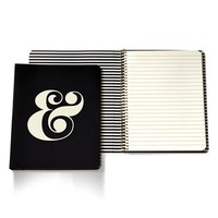 kate spade new york ampersand spiral notebook - Black