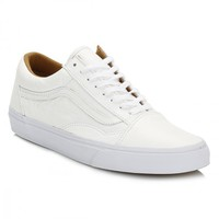 Vans White Old Skool Premium Leather Trainers