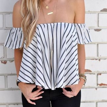 striped shirt wrapped chest