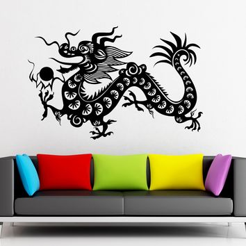 Wall Sticker Vinyl Decal Chinese Dragon Fantasy Mascot China Unique Gift (ig1856)