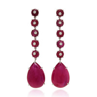 M'O Exclusive: One-Of-A-Kind Ruby Bead And Cabochon Drop Earrings | Moda Operandi