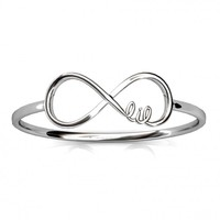 Lil Sis Infinity Ring | A-List Greek Designs