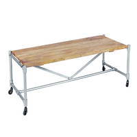 Industrial Pipe Iron Coffee Table, Antique Zinc with Rustic Brown Wood