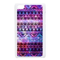 Popular Mayan Aztec Andes Tribal Pattern For IPOD 4 Black/White Plastic Case by Christmas Gift Mall