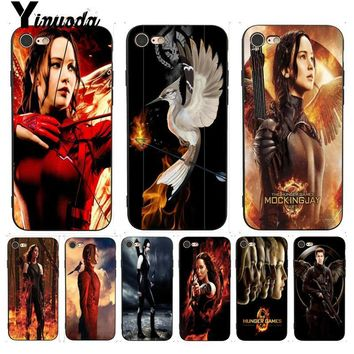 Yinuoda For iPhone 7 6 X Case The Hunger Games Luxury Phone Case for iPhone 7 6 X 6S 6plus 7 7plus 8 8Plus X 5 5S XS XR XSMAX