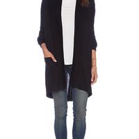Splendid Cashmere Blend Cardigan in Black