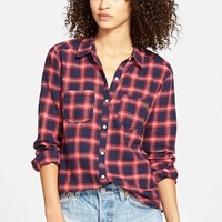 Junior Women's BP. Plaid Flannel Shirt,