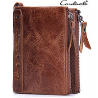Men Wallet Leather Bags Stylish Zippers Purse [9026566531]