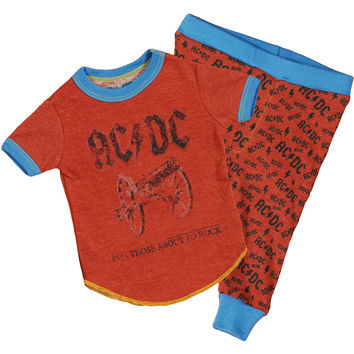 AC/DC Boys' Loungewear Red Rockabilia