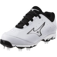 Mizuno Women's 9-Spike Swift 3 Switch Fastpitch Softball Cleat - White/Black | DICK'S Sporting Goods