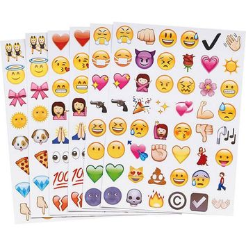 1 pc Multi-shape Stickers 48 Emoji Smile Face Sticker Notebook Message laptop Twitter Large Viny Instagram Stationery Stickers
