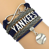 New York Yankees Bracelet, New York Yankees Jewelry, Baseball Bracelet & Yankee Fan Gift