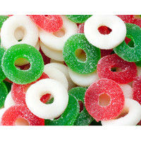 Gummy Christmas Wreaths Candy: 4.5LB Bag